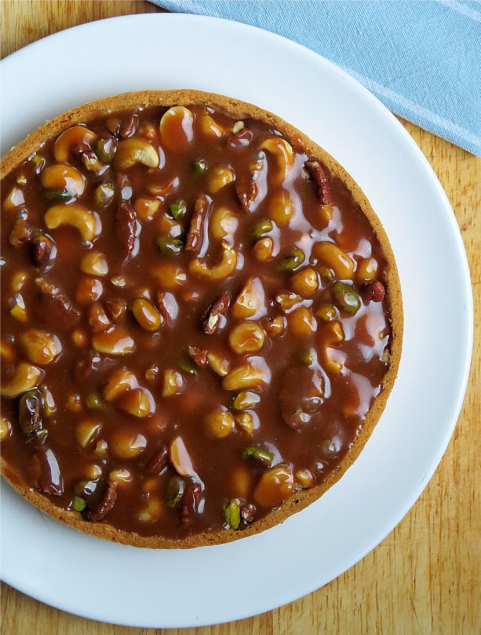 Caramel Nut Tart | Add More Butter