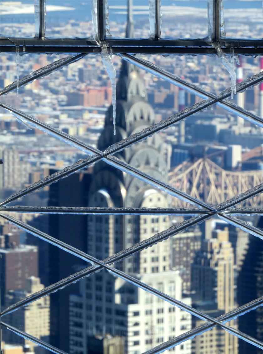 chrystler building blur front