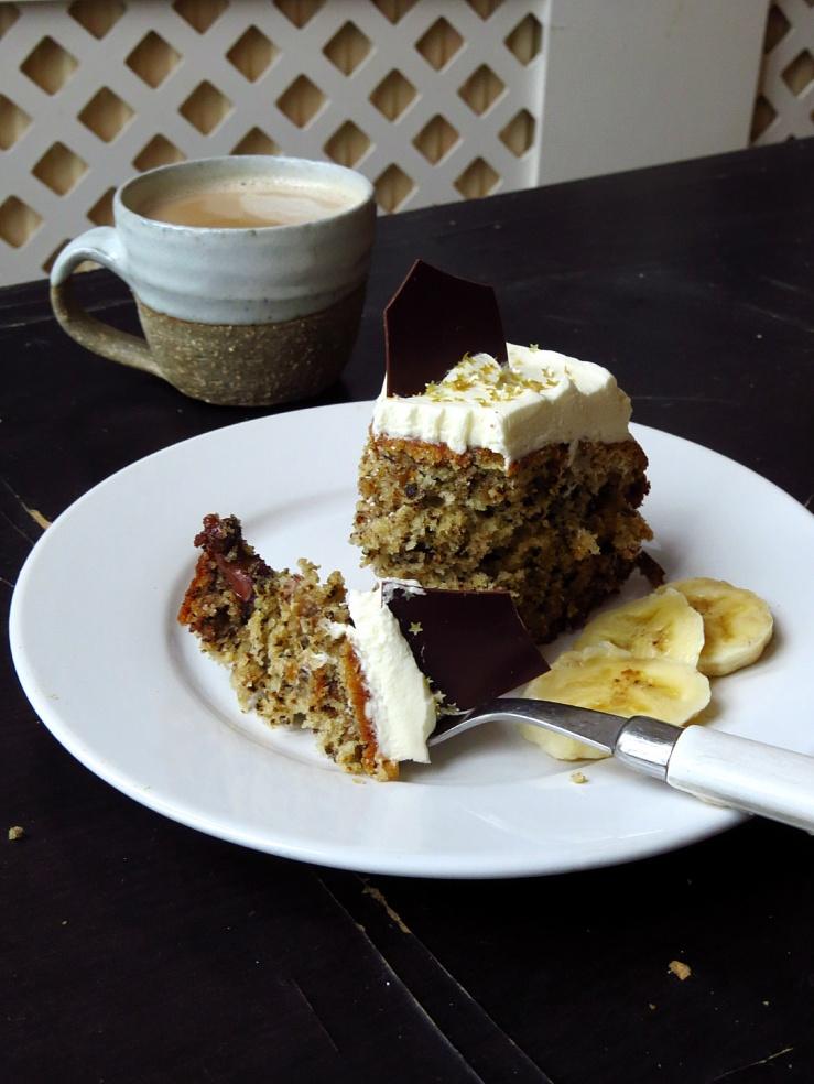 Banana cake slice