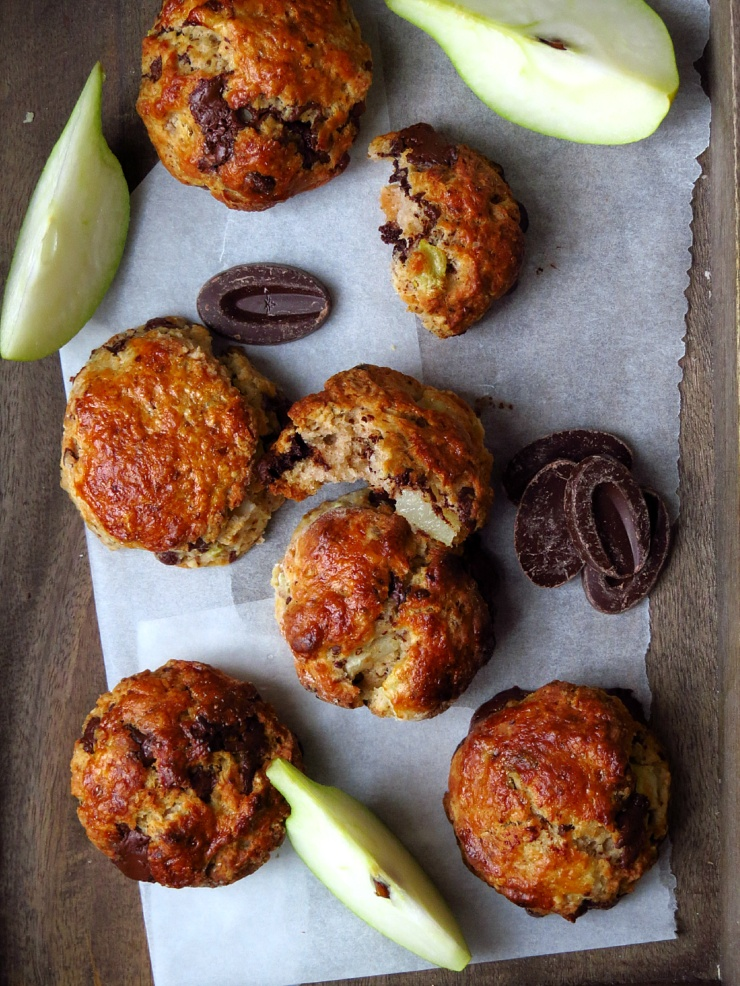Pear and Chocolate Scones
