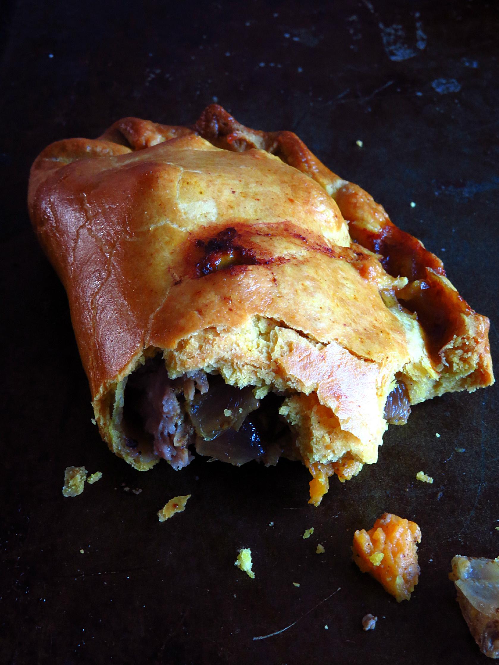 Eaten Cornish pasty