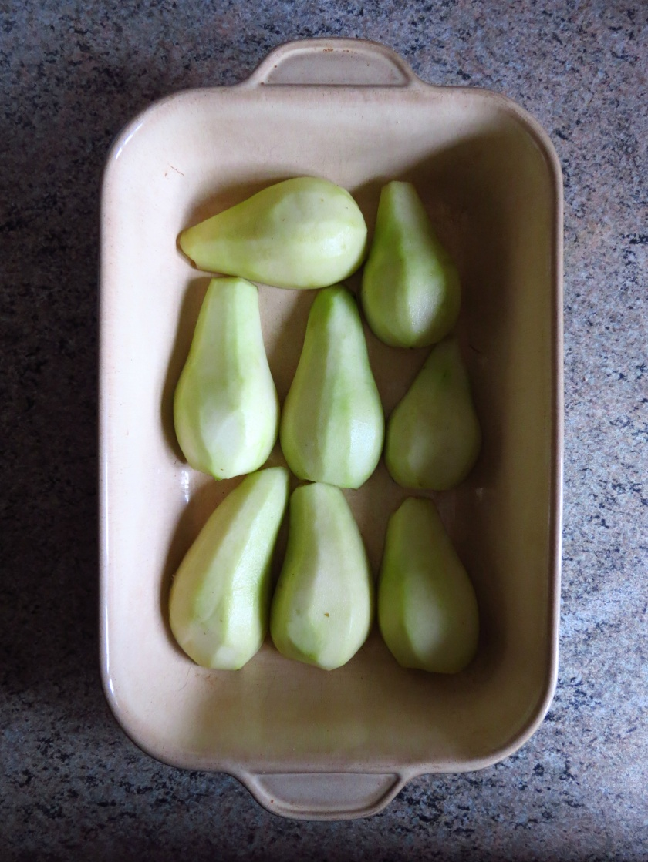 Pears in Dish