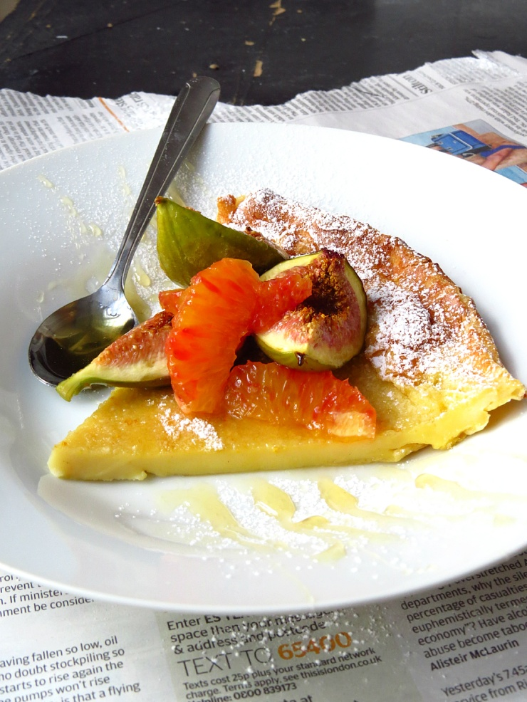 piece of dutch baby pancake